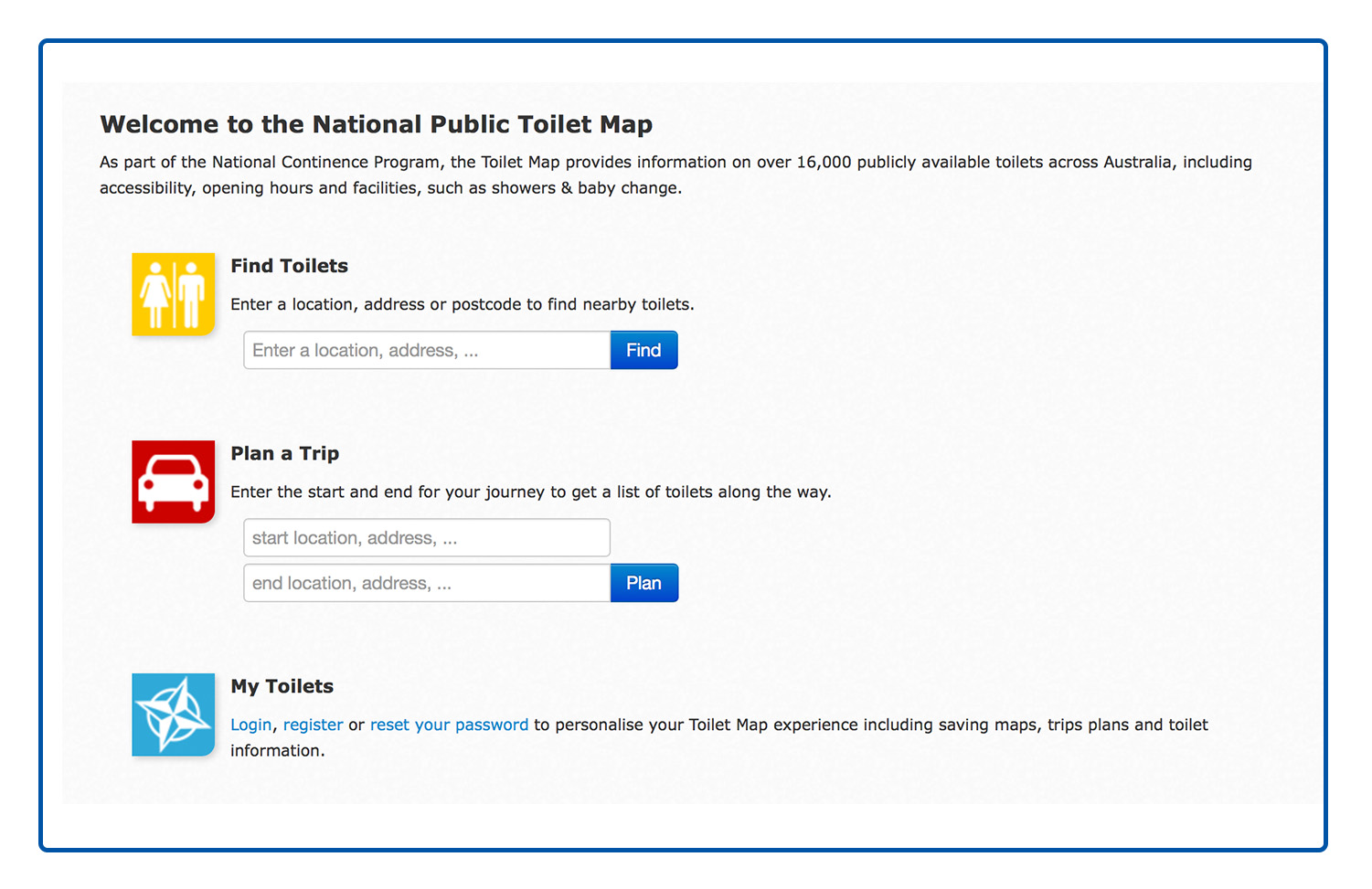 National Public Toilet Map Welcome to the National Public Toilet Map – Heartbeat Nursing and HACC
